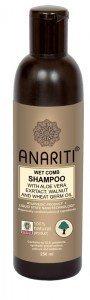 Шампунь для непослушных волос с экстрактом алоэ вера,  маслом грецкого ореха и маслом зародышей пшеницы anariti анарити  ,  250 мл.