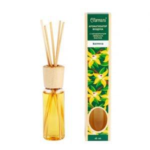 Ароматизатор воздуха с натуральным эфирным маслом ваниль эльфарма elfarma Elfarma (Эльфарма), 45 мл. - Тростниковые ароматизаторы-диффузоры