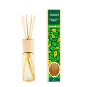 Ароматизатор воздуха с натуральным эфирным маслом зеленый чай эльфарма elfarma Elfarma (Эльфарма), 45 мл. - Тростниковые ароматизаторы-диффузоры