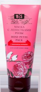 Маска для лица лепестки розы rose petals face pack Amritha, 50 г