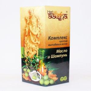 Комплекс против выпадения волос Aasha Herbals (Масло + Шампунь), 200 мл.