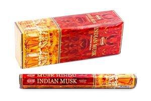 Благовония индийский мускус   HemБлаговония HEM (Индия)<br>Благовоние Индийский Муск - это приятно тёплый, слегка дурманящий аромат с лёгкими терпкими и пряными нотками, который можно использовать как при медитациях, занятиях Йогой, так и для окуривания жилых и нежилых помещений.<br>