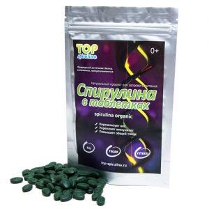 Спирулина органическая в таблетках organic spirulina Top Spirulina, 100 г. - Пищевые добавки