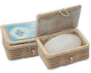 Кристалл-дезодорант алунит в бамбуковой шкатулке Деонат, 100 г. - Натуральные дезодоранты
