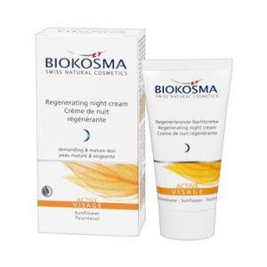Крем ночной регенерирующий для лица актив biokosma биокосма  Натуральная европейская косметика,  50 мл.