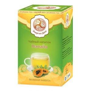 Чайный напиток папайя чай из листьев папайи Расаяна - Аюрведический чай Энергия Дош