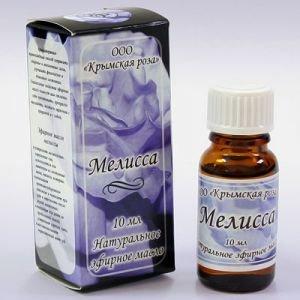 Масло эфирное мелисса Крымская Роза (Эфирные Масла), 10 мл - Эфирные аромамасла