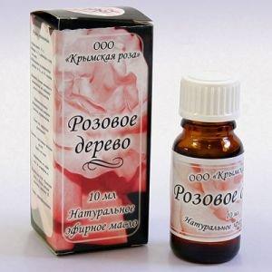 Масло эфирное розовое дерево  Крымская Роза (Эфирные Масла),  10 млАромамасла Крымская роза<br>Оказывает<br> противовоспалительное и смягчающее действие на органы дыхания, <br>устраняет бронхоспазмы, облегчает хронический кашель и кашель <br>курильщика.<br>
