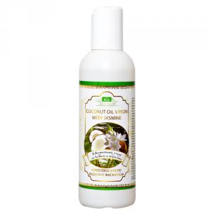 Масло кокосовое с жасмином coconut oil virgin with jasmine Amritha, 200 мл