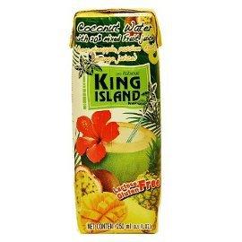 Вода кокосовая с соком экзотических фруктов king island кинг айленд, 250 мл.