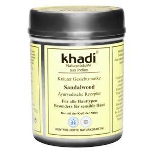 Купить со скидкой Маска для лица для всех типов кожи сандаловое дерево кхади sandalwood khadi  Khadi (Кхади),  50 г.