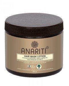 Маска-лосьон для волос с протеинами шелка,  маслом зародышей пшеницы и экстрактом гибискуса anariti анарити  ,  400 мл.