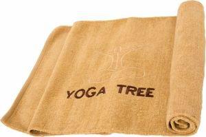 Коврик бежевый для йоги 100% хлопок yoga tree, 60х190 см, в чехле Indibird (Индибёрд) - Эко-коврики (natural)