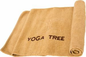 Коврик бежевый для йоги 100% хлопок yoga tree, 60х190 см, в чехле Yoga Tree (Йога Три) - Эко-коврики (natural)