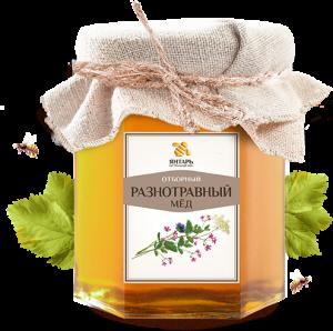 Мёд разнотравный Мед Янтарь, 250 г. - Натуральный мед