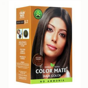Натуральная краска для волос на основе хны color mate 9.2,  натуральный коричневый,  без амиака 75 г.