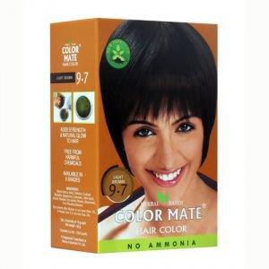 Натуральная краска для волос на основе хны 9.7, светло-коричневый, без амиака 75 г. Color Mate