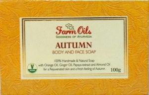 Натуральное мыло  осень  Farm Oils,  100 г.
