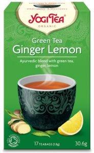 Yogi tea green tea ginger lemon зеленый чай с имбирем и лимоном  Yogi Tea