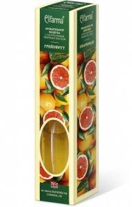 Ароматизатор воздуха с натуральным эфирным маслом грейпфрут elfarma эльфарма Elfarma (Эльфарма), 60 мл - Тростниковые ароматизаторы-диффузоры