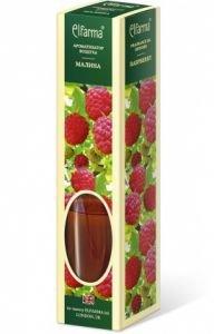 Ароматизатор воздуха с натуральным эфирным маслом малина эльфарма elfarma Elfarma (Эльфарма), 60 мл - Тростниковые ароматизаторы-диффузоры