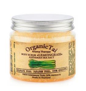Скраб для тела на основе соли андаманского моря лемонграсс органик тай body scrub lemongrass organic tai Organic Tai (Органик Тай), 200 г. - Уход за телом
