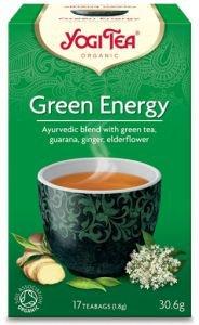 Yogi tea green energy зеленый чай с гуараной Yogi Tea (Йоги Ти) - Аюрведический чай Yogi Tea
