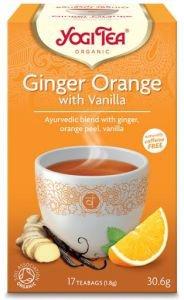Yogi tea ginger orange with vanilla имбирь с апельсином и ванилью  Yogi Tea