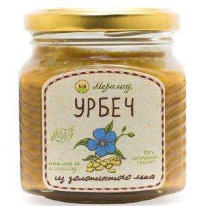 Урбеч из золотистого льна Мералад, 230 г. - Урбечи (пасты из семян и орехов)