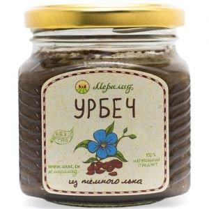 Урбеч из темного льна Мералад, 230 г. - Урбечи (пасты из семян и орехов)