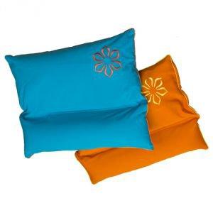 Подушка с валиком под шею амрита 45x50 голубой  Amrita Style