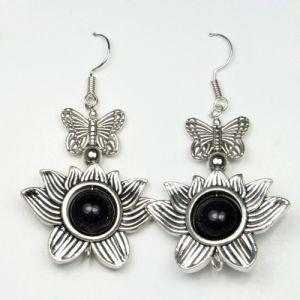 Серьги бабочка на лотосе   Fluroyana от Ayurveda-shop.ru