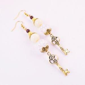 Серьги золотой ключик Fluroyana - Этнические украшения, чётки