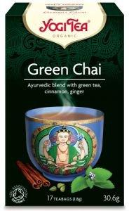 Yogi tea green chai со смесью восточных пряностей  Yogi Tea