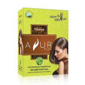Натуральная индийская хна бесцветная аюр плюс ayur plus  ,  50 г.