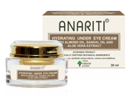 Крем увлажняющий для кожи вокруг глаз с миндальным маслом, сандаловым маслом и экстрактом алое вера Anariti (Анарити), 30 мл. - Уход за кожей вокруг глаз