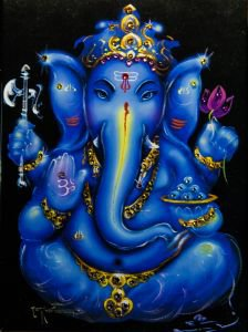 Боги индии: ганеша на черном  Kremma Glass от Ayurveda-shop.ru