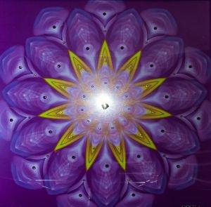 Мандала «кристаллические энергии фиолетового пламени»