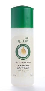 Гель для душа с мёдом bio honey cream lightening body soap Biotique (Биотик), 210 мл. - Гели для душа