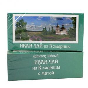 Иван-чай с мятой в фильтр-пакетиках, 15 пакетиковИван-чай, фиточаи<br>Мята, добавляемая в Иван-чай из Комарицы придает чайному напитку легкий аромат «мятных пряников».<br>