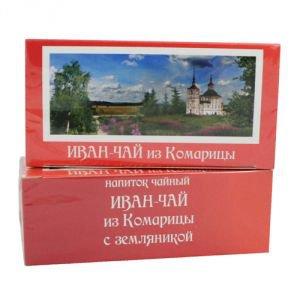 Иван-чай с земляникой в фильтр-пакетиках Vegan Food, 15 пакетиков - Иван-чай, фиточаи