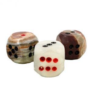 Дополнительный кубик из оникса для игры «лила» (leela), большойИгра самопознания Лила<br>Дополнительный кубик из оникса для игры «Leela» (Лила).<br>