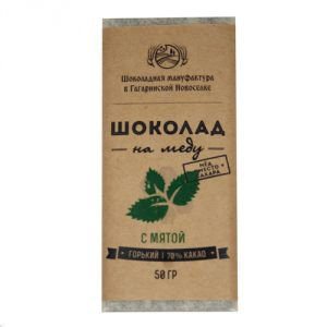 Горький шоколад на меду с мятой, 70 %, 50 г. от Ayurveda-shop.ru