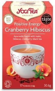 Yogi tea positive energy cranberry hibiscus позитивная энергия с клюквой и гибискусом  Yogi Tea