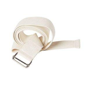Ремень для йоги де люкс усиленный 230 см х 4 см, белый RamaYoga (Рамайога) - Ремни для йоги