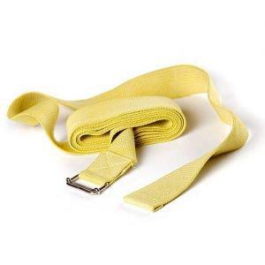 Ремень для йоги де люкс усиленный 270 см х 4 см, желтый RamaYoga (Рамайога) - Ремни для йоги