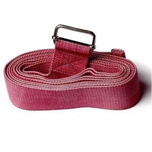 Ремень для йоги де люкс усиленный 270 см х 4 см, красный RamaYoga (Рамайога) - Ремни для йоги