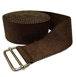 Ремень для йоги де люкс усиленный 270 см х 4 см, коричневый RamaYoga (Рамайога) - Ремни для йоги