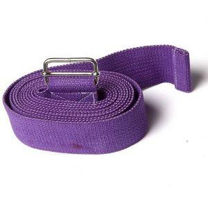 Ремень для йоги де люкс усиленный 270 см х 4 см, фиолетовый RamaYoga (Рамайога) - Ремни для йоги