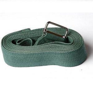 Ремень для йоги де люкс усиленный 270 см х 4 см, хаки RamaYoga (Рамайога) - Ремни для йоги